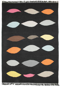 Leaves - Fekete Szőnyeg 140X200 Modern Kézi Szövésű Fekete (Gyapjú, India)