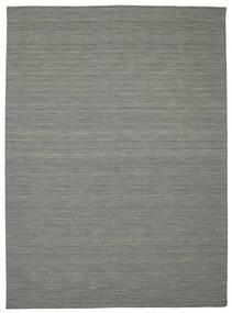 Kilim Loom - Sötétszürke Szőnyeg 250X350 Modern Kézi Szövésű Világosszürke/Sötétzöld Nagy (Gyapjú, India)