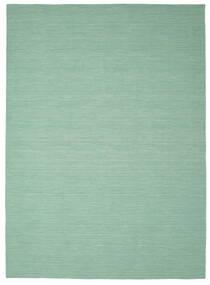 Kilim Loom - Mint Zöld Szőnyeg 250X350 Modern Kézi Szövésű Pasztellzöld/Türkiz Kék Nagy (Gyapjú, India)