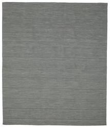 Kilim Loom - Sötétszürke Szőnyeg 250X300 Modern Kézi Szövésű Sötétzöld/Világosszürke Nagy (Gyapjú, India)