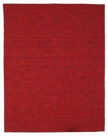 Kilim Loom - Sötétpiros Szőnyeg 200X250 Modern Kézi Szövésű Piros (Gyapjú, India)