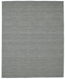 Kilim Loom - Sötétszürke Szőnyeg 200X250 Modern Kézi Szövésű Sötétszürke/Világoszöld (Gyapjú, India)