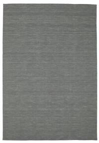 Kilim Loom - Sötétszürke Szőnyeg 200X300 Modern Kézi Szövésű Sötétzöld (Gyapjú, India)