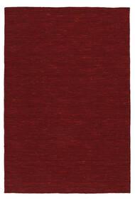 Kilim Loom - Sötétpiros Szőnyeg 200X300 Modern Kézi Szövésű Piros (Gyapjú, India)