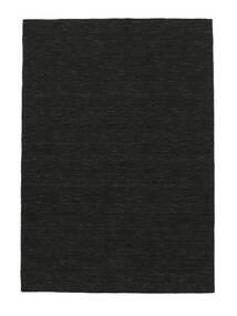 Kilim Loom - Fekete Szőnyeg 160X230 Modern Kézi Szövésű Fekete (Gyapjú, India)