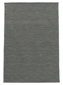 Kilim Loom - Sötétszürke Szőnyeg 140X200 Modern Kézi Szövésű Sötétzöld/Világosszürke (Gyapjú, India)