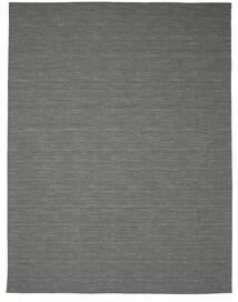 Kilim Loom - Sötétszürke Szőnyeg 300X400 Modern Kézi Szövésű Sötétzöld/Világosszürke Nagy (Gyapjú, India)