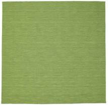 Kilim Loom - Zöld Szőnyeg 300X300 Modern Kézi Szövésű Szögletes Olívazöld/Világoszöld Nagy (Gyapjú, India)
