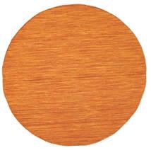Kilim Loom - Narancssárga Szőnyeg Ø 150 Modern Kézi Szövésű Kerek Narancssárga (Gyapjú, India)
