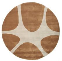 Stones Handtufted - Barna Szőnyeg Ø 150 Modern Kerek Barna/Világosszürke (Gyapjú, India)