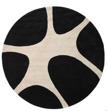 Stones Handtufted - Fekete Szőnyeg Ø 300 Modern Kerek Fekete/Világosszürke Nagy (Gyapjú, India)
