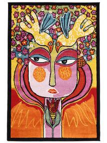 She Has Flowers In Her Hair Szőnyeg 120X180 Modern Narancssárga/Sötétbarna ( Törökország)
