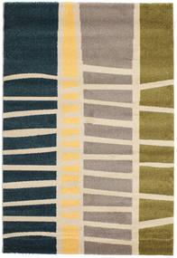 Abstract Bamboo Szőnyeg 140X200 Modern Bézs/Sötétkék ( Törökország)