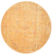 Maharani - Narancssárga Szőnyeg Ø 150 Modern Kerek Világosbarna/Sötét Bézs ( Törökország)