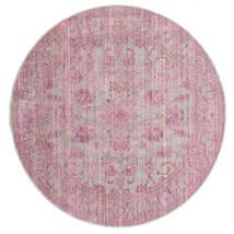 Maharani - Szürke/Rózsaszín Szőnyeg Ø 150 Modern Kerek Világos Rózsaszín ( Törökország)