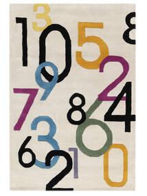 Lucky Numbers - Világos Szőnyeg 120X180 Modern Bézs/Világosszürke (Gyapjú, India)