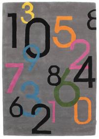 Lucky Numbers - Szürke Szőnyeg 120X180 Modern Sötétbarna/Fekete (Gyapjú, India)