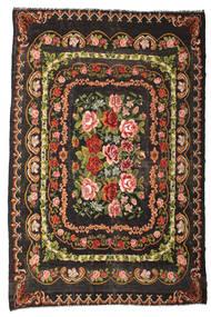 Kilim Rose Moldavia Szőnyeg 233X365 Keleti Kézi Szövésű Sötétbarna/Sötétszürke (Gyapjú, Moldova)