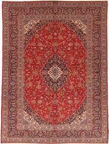 Kashan Szőnyeg 292X395 Keleti Csomózású Sötétpiros/Rozsdaszín Nagy (Gyapjú, Perzsia/Irán)