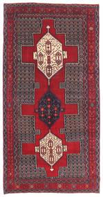 Senneh Patina Szőnyeg 145X299 Keleti Csomózású Sötétbarna/Piros (Gyapjú, Perzsia/Irán)