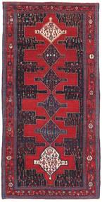 Senneh Patina Szőnyeg 128X277 Keleti Csomózású Piros/Fekete (Gyapjú, Perzsia/Irán)