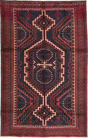 Lori Szőnyeg 160X255 Keleti Csomózású Fekete/Sötétpiros (Gyapjú, Perzsia/Irán)