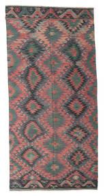 Kilim Félantik Törökország Szőnyeg 168X345 Keleti Kézi Szövésű Sötétszürke/Sötétbarna (Gyapjú, Törökország)