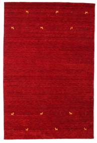 Gabbeh Loom Two Lines - Piros Szőnyeg 190X290 Modern Piros/Sötétpiros (Gyapjú, India)