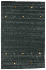Gabbeh Loom Two Lines - Sötétszürke/Zöld Szőnyeg 190X290 Modern Fekete (Gyapjú, India)