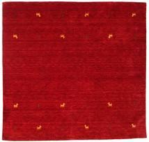 Gabbeh Loom Two Lines - Piros Szőnyeg 200X200 Modern Szögletes Piros/Sötétpiros (Gyapjú, India)