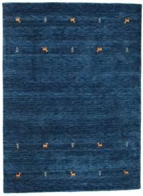 Gabbeh Loom Two Lines - Sötétkék Szőnyeg 140X200 Modern Sötétkék (Gyapjú, India)