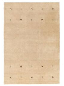 Gabbeh Loom Two Lines - Bézs Szőnyeg 160X230 Modern Sötét Bézs/Világosbarna (Gyapjú, India)