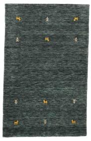 Gabbeh Loom Two Lines - Sötétszürke/Zöld Szőnyeg 100X160 Modern Fekete/Sötétszürke (Gyapjú, India)