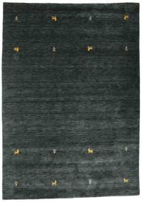 Gabbeh Loom Two Lines - Sötétszürke/Zöld Szőnyeg 160X230 Modern Fekete (Gyapjú, India)