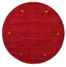 Gabbeh Loom Two Lines - Piros Szőnyeg Ø 150 Modern Kerek Piros/Sötétpiros (Gyapjú, India)
