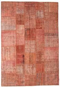 Patchwork Szőnyeg 202X297 Modern Csomózású Piros/Világos Rózsaszín/Sötétpiros (Gyapjú, Törökország)