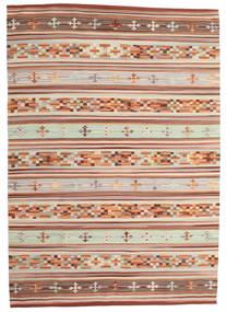 Kilim Anatolian Szőnyeg 160X230 Modern Kézi Szövésű Sötétpiros/Világosszürke (Gyapjú, India)
