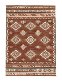 Kilim Malatya Szőnyeg 160X230 Modern Kézi Szövésű Piros/Világosbarna (Gyapjú, India)