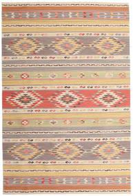 Kilim Nimrud Szőnyeg 190X290 Modern Kézi Szövésű Világosszürke/Sötét Bézs (Gyapjú, India)