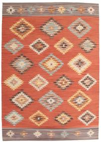 Kilim Denizli Szőnyeg 160X230 Modern Kézi Szövésű Narancssárga/Piros (Gyapjú, India)