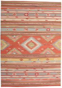 Kilim Mersin Szőnyeg 160X230 Modern Kézi Szövésű Rozsdaszín/Sötétpiros (Gyapjú, India)