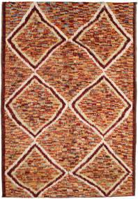 Barchi/Moroccan Berber Szőnyeg 197X292 Modern Csomózású Sötétpiros/Piros (Gyapjú, Afganisztán)