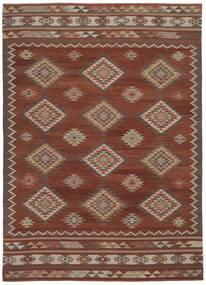 Kilim Malatya Szőnyeg 240X340 Modern Kézi Szövésű Sötétpiros/Piros (Gyapjú, India)