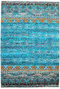 Quito - Turquoise Szőnyeg 190X290 Modern Csomózású Türkiz Kék/Kék (Selyem, India)