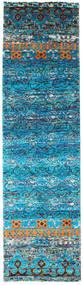 Quito - Turquoise Szőnyeg 80X300 Modern Csomózású Türkiz Kék/Kék (Selyem, India)