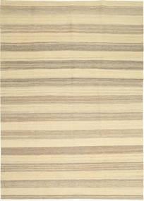 Kilim Modern Szőnyeg 174X246 Modern Kézi Szövésű Bézs/Világosszürke (Gyapjú, Perzsia/Irán)