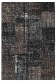 Patchwork Szőnyeg 162X234 Modern Csomózású Sötétszürke/Fekete (Gyapjú, Törökország)