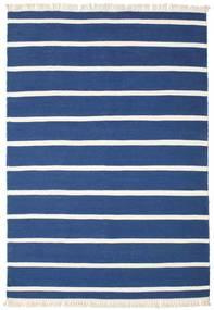 Dorri Stripe - Sötétkék Szőnyeg 160X230 Modern Kézi Szövésű Sötétkék/Kék (Gyapjú, India)