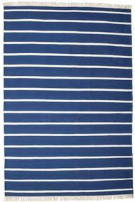 Dorri Stripe - Sötétkék Szőnyeg 220X320 Modern Kézi Szövésű Sötétkék/Kék (Gyapjú, India)