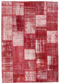 Patchwork Szőnyeg 202X294 Modern Csomózású Piros/Rózsaszín (Gyapjú, Törökország)